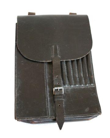"""Original German WW2 M35 Dispatch Leather Map Case """"Meldekartenasche 35"""""""