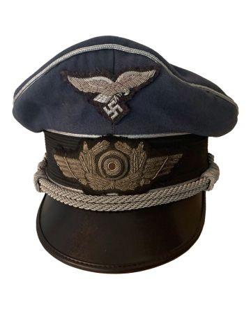 LUFTWAFFE BOMBER PILOT'S VISOR CAP AGED
