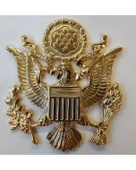 AMERICAN ARMY & AIRFORCE OFFICER'S CAP BADGE