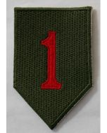 WW11AMERICAN 1ST INFANTRY DIVISION PATCH THE BIG RED ONE