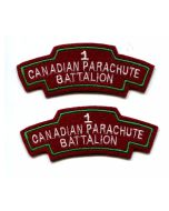 CANADIAN FIRST CANADIAN PARACHUTE BATTALION INSIGNIA SET OF 2
