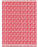 FULL AND COMPLETE GERMAN WWII HITLER HEAD STAMP SHEET OF 100 STAMPS 12 RPF VALUE. FULL GUM