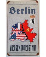 GERMAN 4 SECTION BERLIN METAL SIGN