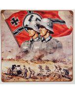 GERMAN FLAG METAL SIGN