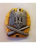 GERMAN GENERAL ASSAULT BADGE 100 Actions - Gold & Silver