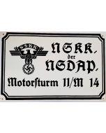 GERMAN NSKK MOTOR BORD METAL SIGN