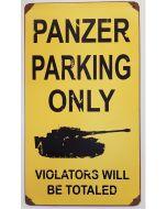 GERMAN PANZER PARKING METAL SIGN