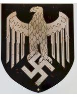 GERMAN PLASMA CUT SHIELD EAGLE METAL SIGN