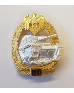 GERMAN TANK BATTLE BADGE 100 ACTIONS Gold & Silver