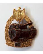 GERMAN TANK BATTLE BADGE 100 ACTIONS PANZER GRENADIER Gold & Bronze