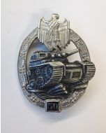 GERMAN TANK BATTLE BADGE 50 ACTIONS Silver