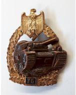 GERMAN TANK BATTLE BADGE 75 ACTIONS PANZER GRENADIER Gold & Bronze