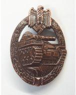 GERMAN TANK BATTLE BADGE FOR TANK CREWS Bronze