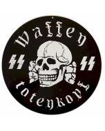"GERMAN WAFFEN SS METAL SIGN 14"" X 14"""