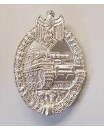 GERMAN ARMY PANZER ASSAULT BADGE - SILVER