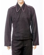 GERMAN SS PANZER SET: BLACK WRAPPER JACKET AND TROUSERS