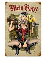 GUNNER GIRL METAL SIGN