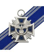 NSDAP LONG SERVICE AWARD FOR FIFTEEN YEARS SILVER WITH RIBBON