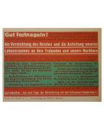 GERMAN WWII SMALL PROPAGANDA POSTER