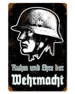 """RUHM WEHRRMACHT METAL SIGN 18"""" X 12"""""""