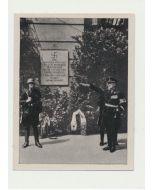 SEYTZ-INQUART ENTHULLT AM 25. JULI 1938 DIE GEDENKTAFEL AM FRUHEREN BUNDESKANZLERAMT CIGARETTE CARD