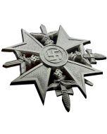 WW11 GERMAN SPANISH CROSS WITH SWORD Silver