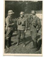 """SS POST CARD POLICE IN POLAND""""A SECURITY POLICE GROUP BEFORE AN ACTION"""""""