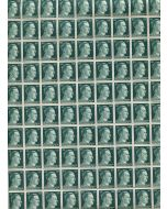 FULL AND COMPLETE GERMAN WWII HITLER HEAD STAMP SHEET OF 100 STAMPS 50 RPF VALUE.