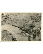 "UNSERE WAFFEN SS ""ARTILLERY ON A MOUNTAIN PASS ROAD"""