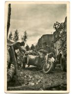 UNSERE WAFFEN SS MOTORCYCLE TROOPS POSTCARD