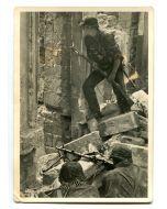 """UNSERE WAFFEN SS POST CARD """"STREET BATTLE"""""""