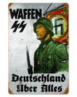 """DEUTSCHLAND WAFFEN SS METAL SIGN 18"""" X 12"""""""