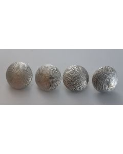 GERMAN WW2 PEBBLED ALUMINUM SILVER BUTTONS SIZE 21mm - VARIOUS MAKER MARKS