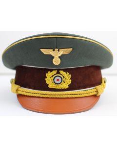 ADOLF HITLERS GREEN GABARDINE VISOR CAP