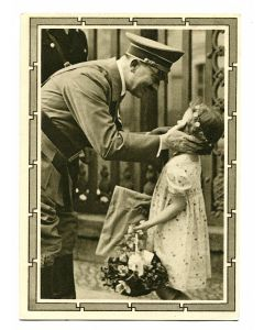 ADOLPH HITLER WITH A CHILD POSTCARD