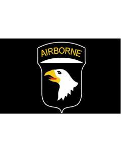 AMERICAN WWII 101st AIRBORNE BLACK FLAG