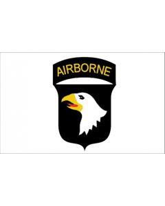 AMERICAN WWII 101st AIRBORNE WHITE FLAG