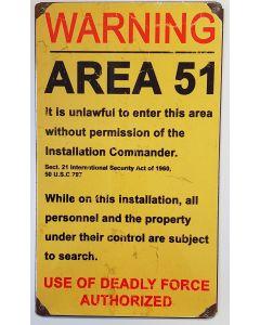 AREA 51 METAL SIGN