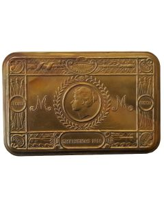 BRITAIN WWI PRINCESS MARY'S CHRISTMAS BRASS GIFT BOX 1914 GREAT WAR