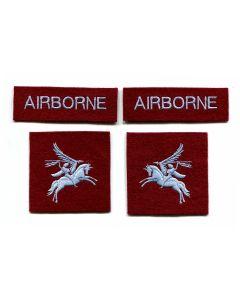 BRITISH 6th AIRBORNE DIVISION RED DEVILS SHOULDER FLASH