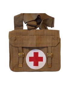BRITISH WW1 MEDICS BAG WITH SHOULDER STRAP