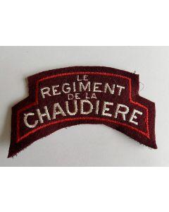 CANADIAN LE REGIMENT DE LA CHAUDIERE SHOULDER FLASH