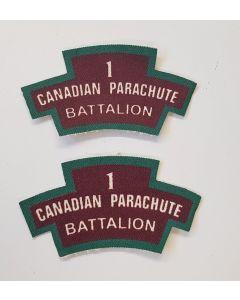 CANADIAN 1 PARACHUTE BATTALION PATCHES