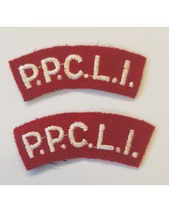 CANADA CLOTH SHOULDER FLAHES - P.P.C.L.I.