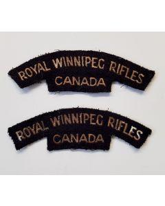 CANADIAN WW2 SHOULDER FLASH ROYAL WINNIPEG RIFLES CANVAS TITLE