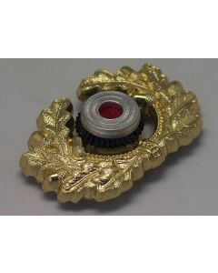 GERMAN HEER VISOR CAP WREATH AND COCKADE IN GOLD WW2