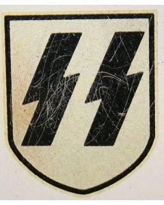 GERMAN SS 2nd PATTERN HELMET DECAL PRE-AGED