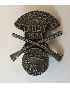 D-DAY OMAHA BEACH COMMEMORATIVE BADGE