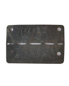 GERMAN WW2 PRISONER OF WAR DOG TAG STALAG VIIIB 344 LAMSDORF - ORIGINAL