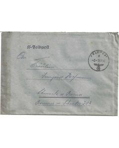German WW11 SS Feldpost Letter